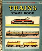 <h5>Train Stamp Book #A26 (1958)</h5><p>Stamps; Activity Book</p>